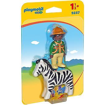 Playmobil 1.2.3 9257 Ranger mit Zebra