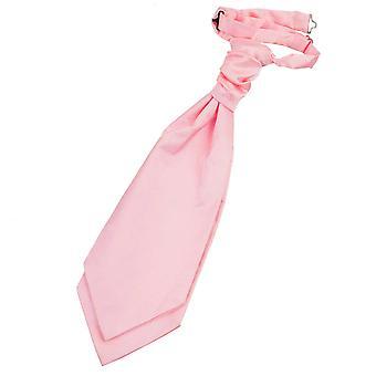 Baby Pink almindelig Satin pre-bundet bryllup Cravat