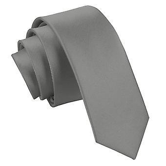 Platin-Ebene Satin schmaler Krawatte