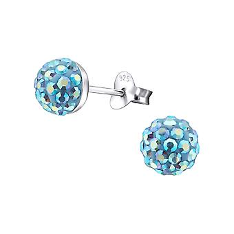 Ball - 925 Sterling Silber Crystal Ohrstecker - W16906X