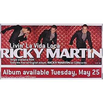 Ricky Martin Livin La Vida Loca Poster