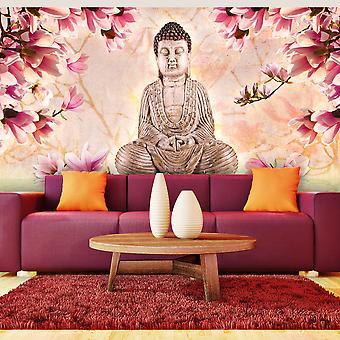 XXL wallpaper - Buddha and magnolia