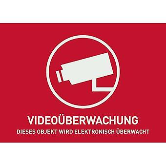ABUS AU1320 Warning label CCTV Languages German (W x H) 148 mm x 105 mm