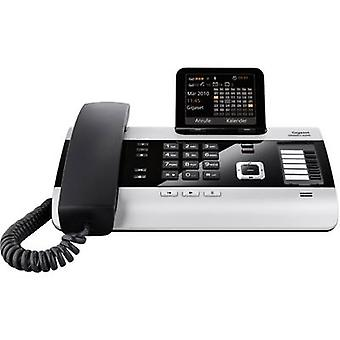 Gigaset DX600A ISDN PBX ISDN Answerphone, Bluetooth Colour Silver, Zwart