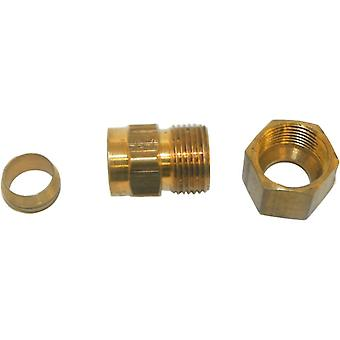 "Big A Service Line 3-166620 Brass Pipe, Male Adapter Fitting 3/8"" x 1/8"""