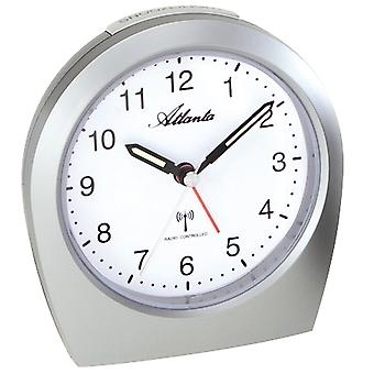 silent silver radio controlled alarm clock quietly creeping second light function
