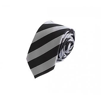 Gravata gravata gravata gravata 6cm preto cinza listrado Fabio Farini