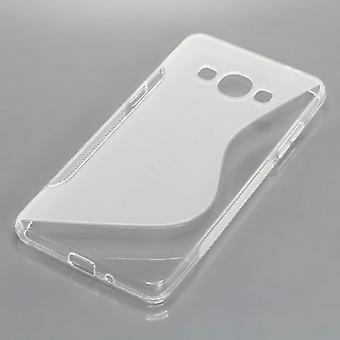 Mobile Shell S-line TPU protection case bumper shell for Samsung Galaxy J3 emerge transparent