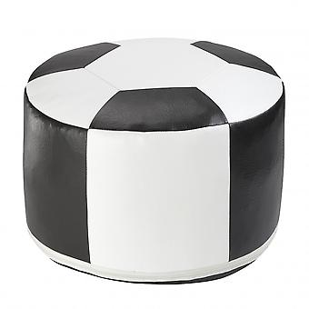 Football cushion synthetic leather white/black 6300301 Ø 50/34 cm