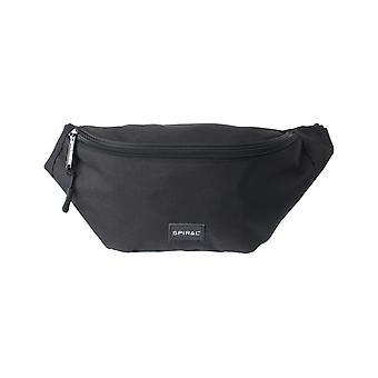 Spiral Black Core Bum Bag in Black