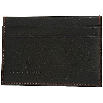 Simon Carter Soft Leather Credit Card Holder - Black