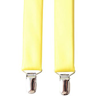 Knightsbridge Neckwear plaine Clip accolades - jaune