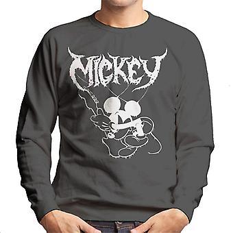 Disney Mickey Mouse Band Rock Metal Herren Sweatshirt