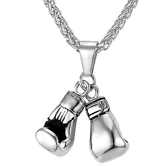 U7 Boxing Necklace-Silver