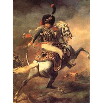 An Officer of the Imperial Horse, Theodore Gericault, 50x40cm