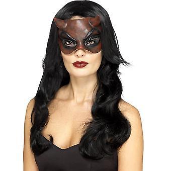 伪装魔鬼面具, 乳胶, 红色, 女士们