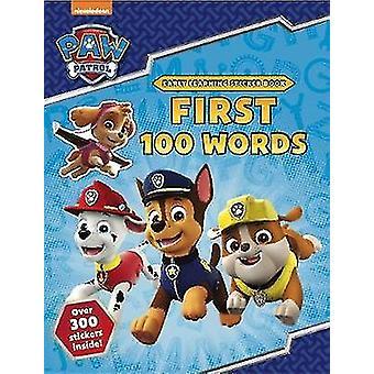 PAW Patrol - första 100 orden klistermärke bok av Scholastic - 978140718687