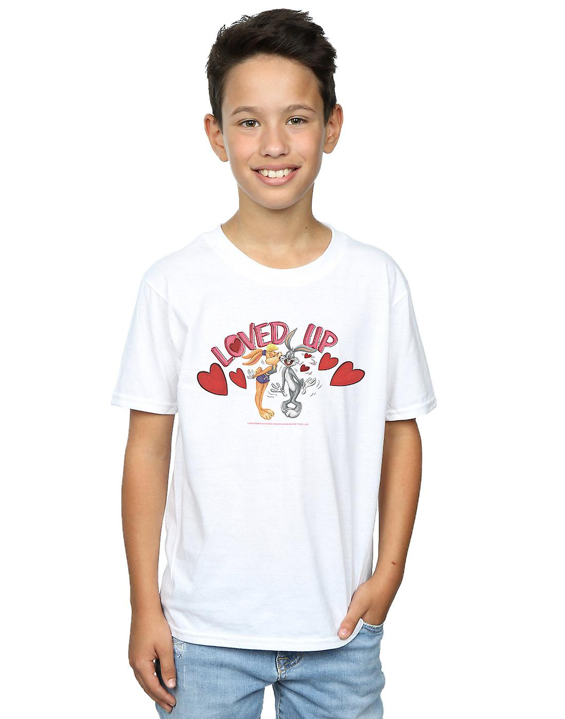 Looney Tunes Boys Bugs Bunny And Lola Valentine's Day Loved Up T-Shirt