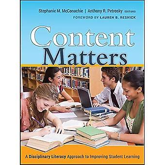 Inhalt Angelegenheiten: Eine disziplinarische Kompetenz Ansatz zur Verbesserung der Student lernen