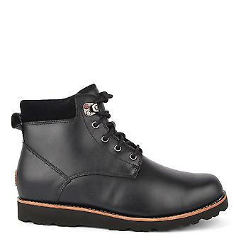 UGG Men's Seton Black Leather Boot