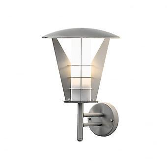 Konstsmide Livorno Modern Stainless Steel Garden Wall Lantern