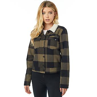 Fox Racing Womens Burnett Lined Flannel LS Shirt - Bark