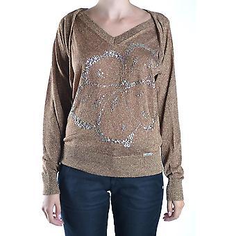 John Galliano Ezbc164059 Women's Gold Wool Sweater