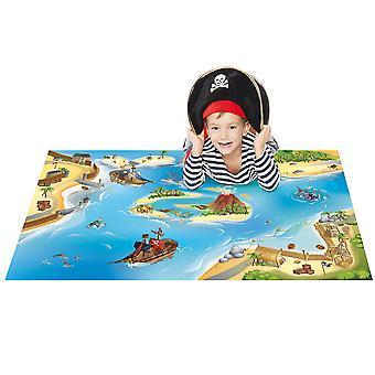 """Playmat Collection Connect """"Pirate Carpet, Multi-Colour, 100 x 150 cm"""