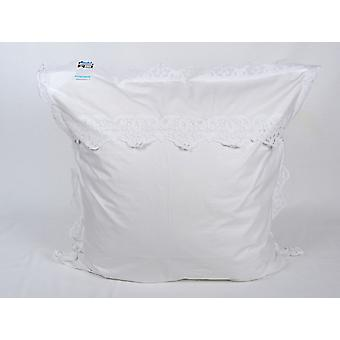 Hossner Parade Pillow Case Rimini Richelieu Embroidery Shabby Landhaus 80x80 cm