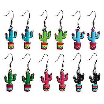Bonito colorido Cactus brincos gota