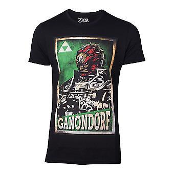 Legenden om Zelda T-skjorte propaganda Ganondorf menns X-Large svart