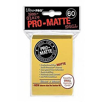 Ultra Pro Matte Small Cards Sleeves - Yellow