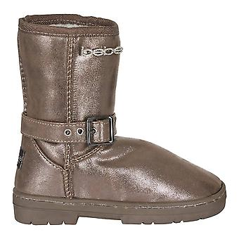 bebe Girls Shimmer Winter Boots with Buckle Straps Casual Shoes