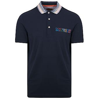 MISSONI Navy Logo Polo Shirt