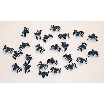 Spinn 25 bit Halloween dekorationer spindel skräck 2cm svart