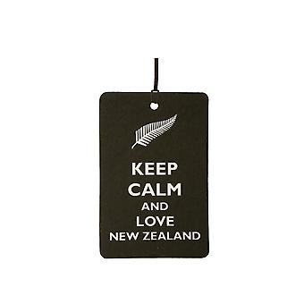 Mantenha a calma e amo o refrogerador de ar de carro de Nova Zelândia