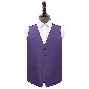 Cadbury Purple Plain shantung bryllup vest