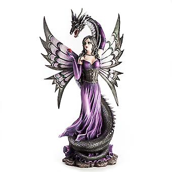 Purple Fairy With Black Serpent