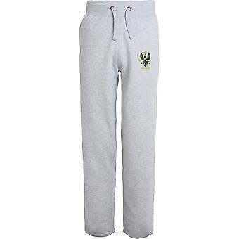 Reis Royal Hussars veterano-licenciado British Army bordado aberto hem Sweatpants/jogging Bottoms