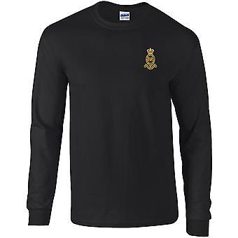 Royal Horse Artillery RHA - T-shirt à manches longues brodé de l'armée britannique