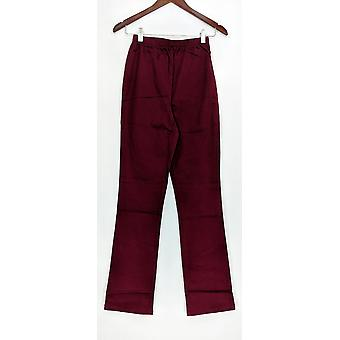 Denim & Co. Leggings TXS Stretch tall Boot Cut Burgund rot A01725