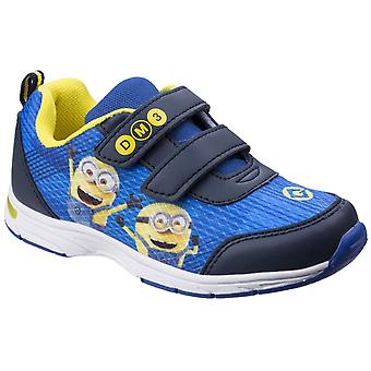 Leomil Kids Minions Touch Fastening Trainer Blue/Yellow