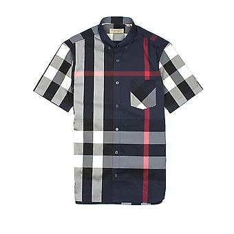 Chemise burberry Short Sleeve Check Shirt Navy Blue