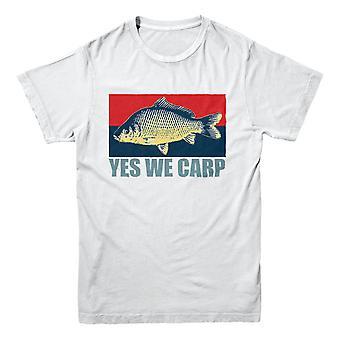 Officiell hooked-Fishing T-shirt-Ja vi karp