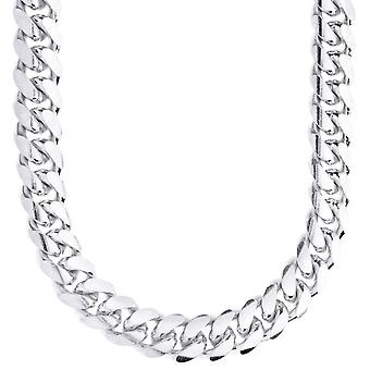 Sterling 925 Silver Tank Chain - MIAMI CUBAN 12mm
