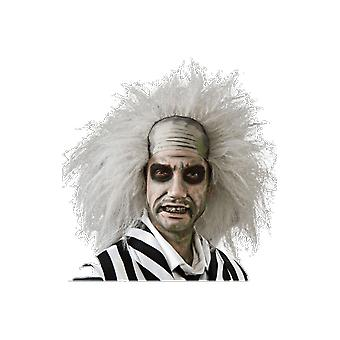 Mens Beetlejuice Grey Wig Halloween 80s Film Fancy Dress Costume Accessory