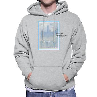 A.P.O.H Oscar Claude Monet Painting Quote Men's Hooded Sweatshirt