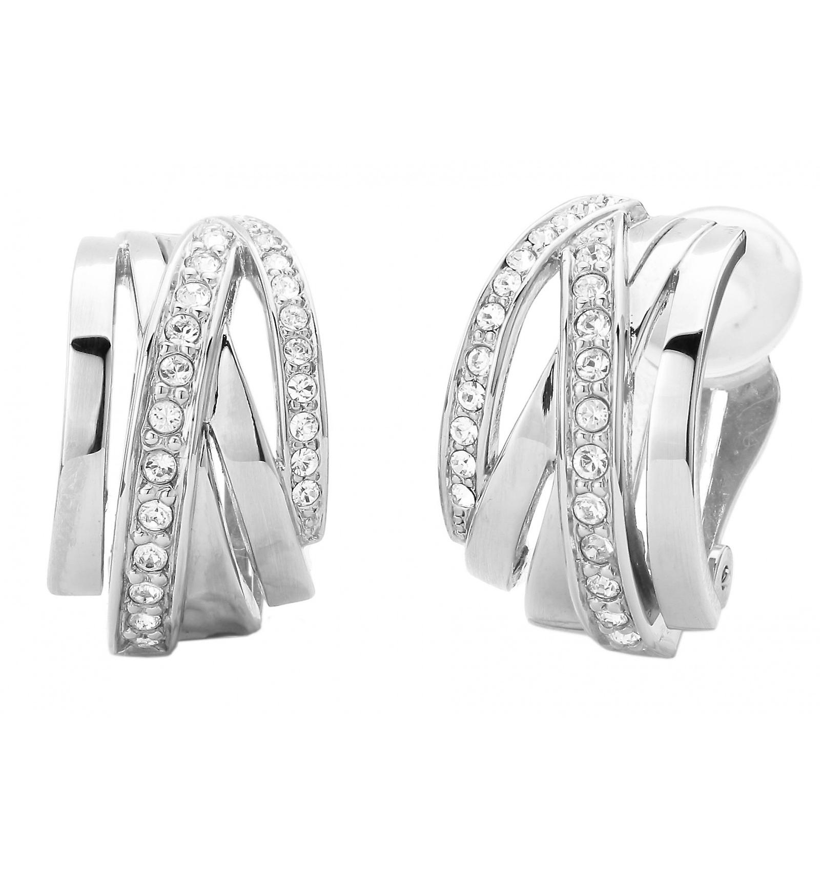 Traveller clip earring - rhodium plated - Swarovski Crystals - 157050