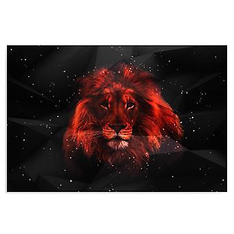 Canvas, Picture on canvas, Lion in the dark