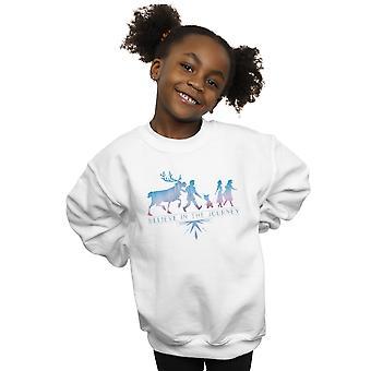 Disney Mädchen gefroren 2 glauben an die Reise Silhouette Sweatshirt
